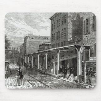 Ferrocarril elevado en la calle de Greenwich, Nuev Tapetes De Ratones