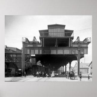 Ferrocarril elevado, Philadelphia, PA, 1910 Posters