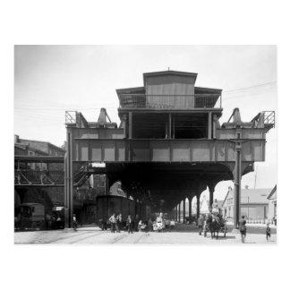 Ferrocarril elevado, Philadelphia, PA, 1910 Postales
