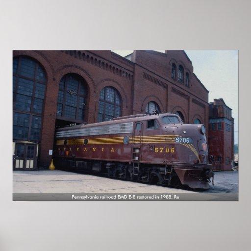 Ferrocarril EMD E-8 de Pennsylvania restaurado en  Impresiones