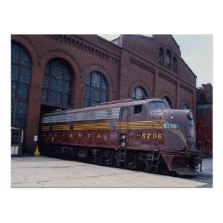 Ferrocarril EMD E-8 de Pennsylvania restaurado en  Tarjeta Postal