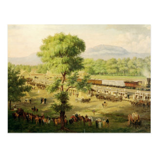 Ferrocarril en el valle de México, 1869 Postal