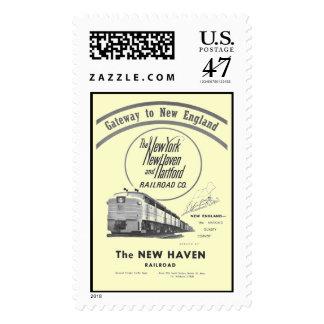 Ferrocarril-Entrada de New Haven a Nueva Estampilla