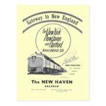 Ferrocarril-Entrada de New Haven a Nueva Inglaterr Tarjetas Postales