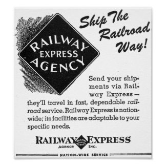 Ferrocarril expreso - envíe la manera del póster