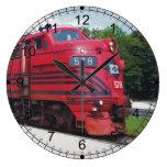 Ferrocarril F-7A #578 @ Cape May New Jersey del Reloj De Pared