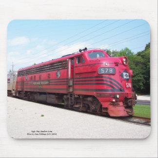 Ferrocarril F-7A #578 del valle de Lehigh en Cape  Tapete De Ratón