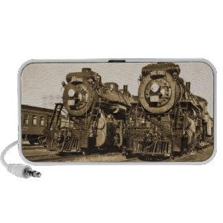 Ferrocarril gemelo de las locomotoras del vintage mini altavoz