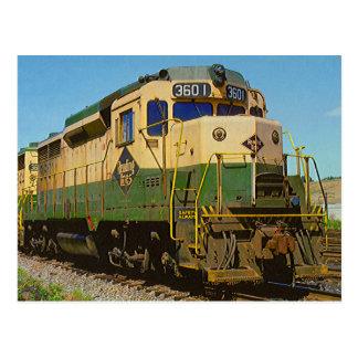 Ferrocarril GP-30 #3601 de la lectura Tarjeta Postal