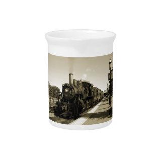 Ferrocarril histórico jarras para bebida