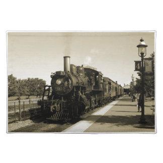 Ferrocarril histórico mantel individual
