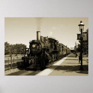 Ferrocarril histórico póster