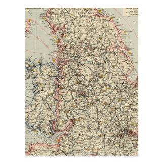Ferrocarril, Inglaterra estadística, País de Gales Tarjetas Postales