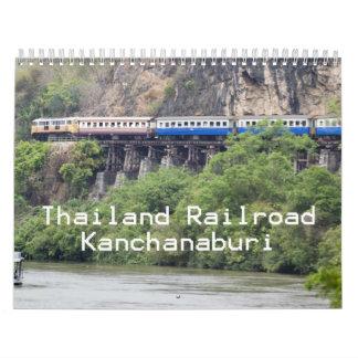 Ferrocarril Kanchanaburi de Tailandia Calendarios