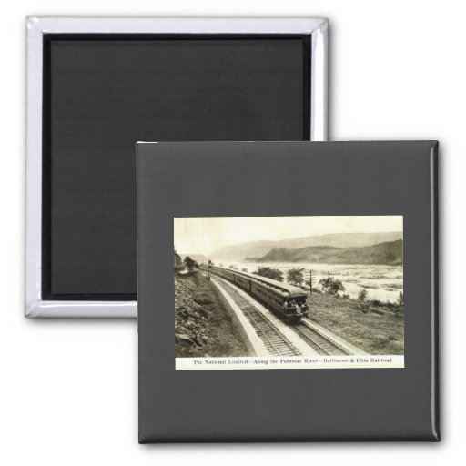 Ferrocarril limitado nacional c1920s de Baltimore  Imanes De Nevera