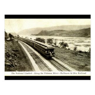 Ferrocarril limitado nacional c1920s de Baltimore  Postal