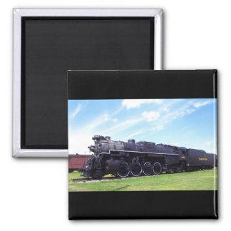 Ferrocarril locomotor #757 de la placa de níquel imán cuadrado
