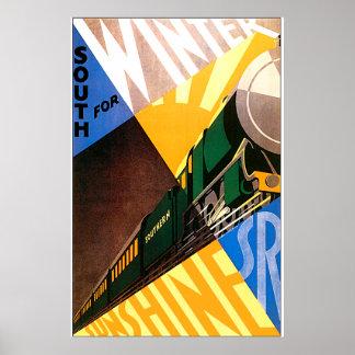 Ferrocarril meridional póster