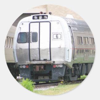 Ferrocarril Metroliner #860 de Pennsylvania Pegatina Redonda