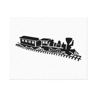 Ferrocarril modelo impresiones de lienzo
