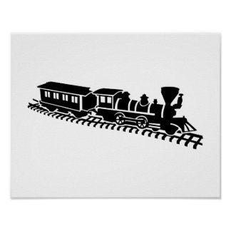 Ferrocarril modelo póster