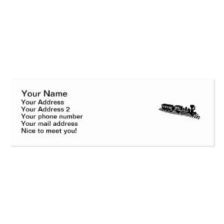 Ferrocarril modelo tarjetas de visita mini