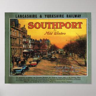 Ferrocarril Southport de Lancashire y de Yorkshire Póster