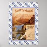 Ferrocarril suizo del Jura Simplon del poster del