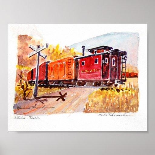 ferrocarril-travesía impresiones