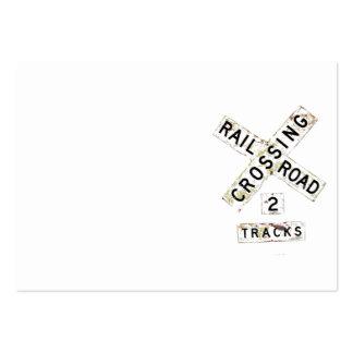 Ferrocarril viejo Crossbuck Tarjetas De Visita