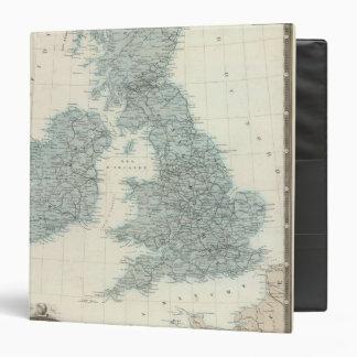 """Ferrocarril y canales de islas británicas carpeta 1 1/2"""""""