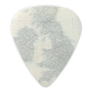 Ferrocarril y canales de islas británicas púa de guitarra acetal