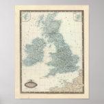 Ferrocarril y canales de islas británicas posters