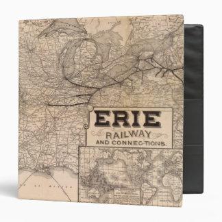 """Ferrocarril y conexiones de Erie Carpeta 1 1/2"""""""