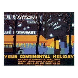 Ferrocarriles continentales del día de fiesta del postal