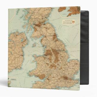 """Ferrocarriles de las islas británicas y mapa indus carpeta 1 1/2"""""""