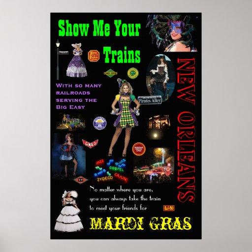 Ferrocarriles de New Orleans, carnaval Poster