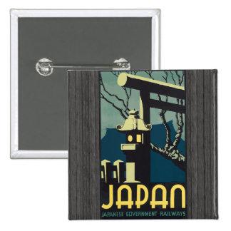 Ferrocarriles japoneses del gobierno de Japón, vin Pin Cuadrada 5 Cm