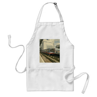 Ferrocarriles ligeros del Dockland que se acercan  Delantal