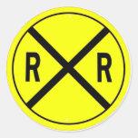 Ferrocarriles Pegatina Redonda