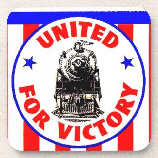 Ferrocarriles unidos para esfuerzo 1940 de la posavasos de bebidas
