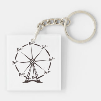Ferrous Ferris Wheel Double-Sided Square Acrylic Keychain