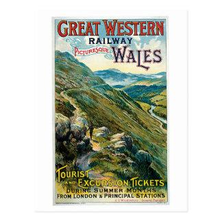 ~ ferroviario País de Gales de Great Western Postal