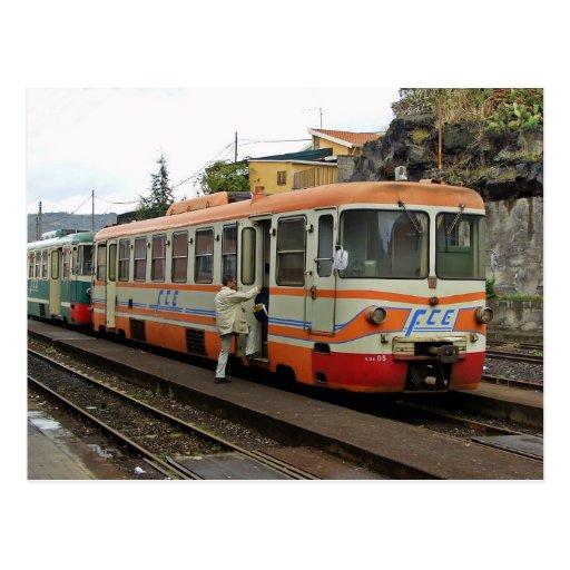 Ferrovie Circum Etnea - FCE Postcard