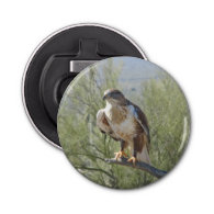 Ferruginous Hawk Button Bottle Opener