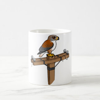 Ferruginous Hawk on power pole Mugs
