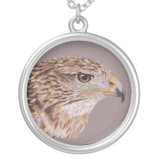 Ferruginous Hawk Round Pendant Necklace