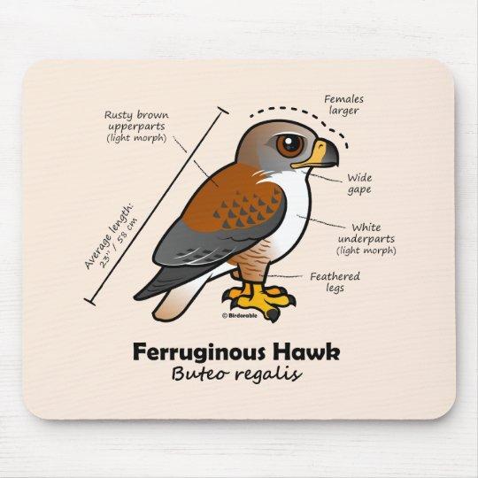 Ferruginous Hawk Statistics Mouse Pad