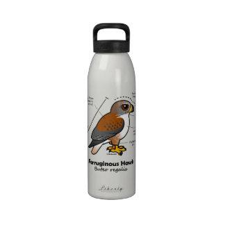 Ferruginous Hawk Statistics Reusable Water Bottles