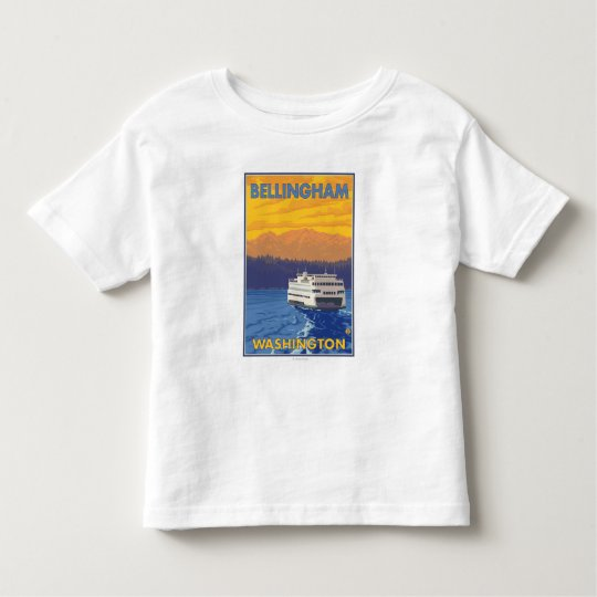 Ferry and Mountains - Bellingham, Washington Toddler T-shirt